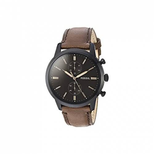 FOSSIL ウォッチ 時計 黒 ブラック 茶 ブラウン レザー 【 WATCH BLACK BROWN FOSSIL TOWNSMAN CHRONOGRAPH FS5437 LEATHER 】 腕時計 レディース腕時計