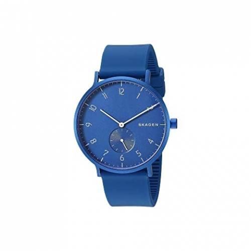 SKAGEN ウォッチ 時計 青 ブルー 【 WATCH BLUE SKAGEN AAREN KULOR 41MM THREEHAND SILICONE SKW6508 】 腕時計 メンズ腕時計