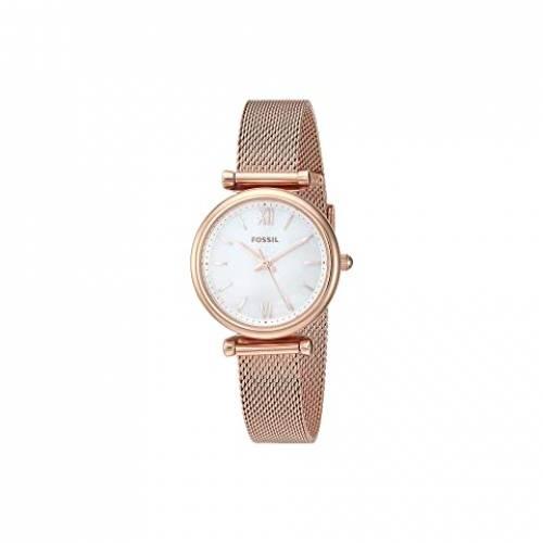 【★スーパーセール中★ 6/11深夜2時迄】FOSSIL ステンレス 銀色 スチール ウォッチ 時計 腕時計 レディース腕時計 レディース 【 Carlie Mini Three-hand Stainless Steel Watch 】 Es4433 Rose Gold Stainless Steel Mesh