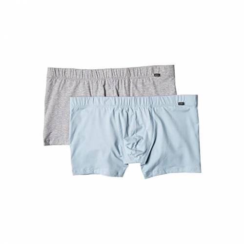 HANRO インナー 下着 ナイトウエア メンズ 【 Cotton Essentials 2-pack Boxer Brief 】 Aquamarine/light Melange