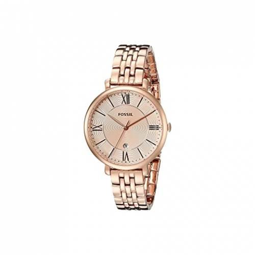 【★スーパーセール中★ 6/11深夜2時迄】FOSSIL ステンレス 銀色 スチール ウォッチ 時計 腕時計 レディース腕時計 レディース 【 Jacqueline Three-hand Stainless Steel Watch 】 Es3435 Rose Gold Stainless Steel