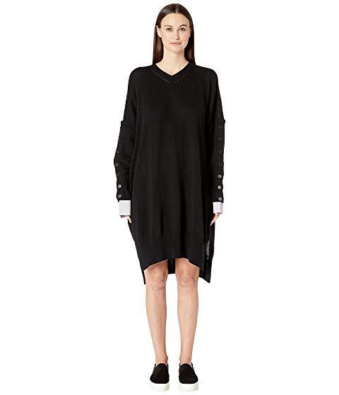 【海外限定】スリーブ ブイネック ドレス ワンピース レディースファッション 【 SLEEVE BUTTON VNECK DRESS 】