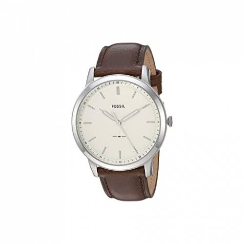 FOSSIL ウォッチ 時計 銀色 シルバー 茶 ブラウン レザー 【 WATCH SILVER BROWN FOSSIL MINIMALIST THREEHAND FS5439 LEATHER 】 腕時計 メンズ腕時計