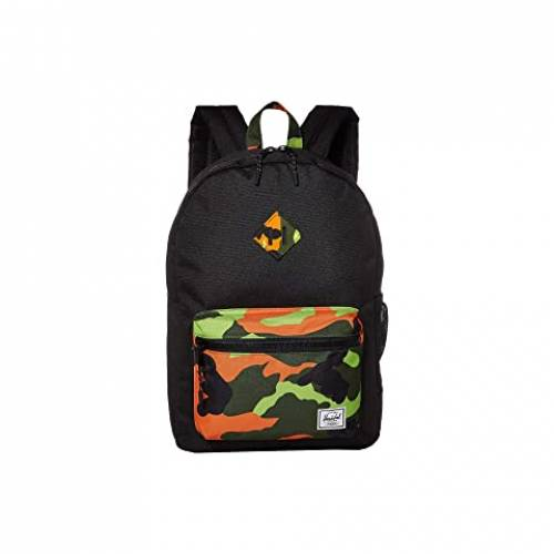 HERSCHEL SUPPLY CO. KIDS 子供用 バックパック バッグ リュックサック キッズ ベビー マタニティ ランドセル ジュニア 【 Heritage Youth Xl Backpack (youth) 】 Black/neon Camo