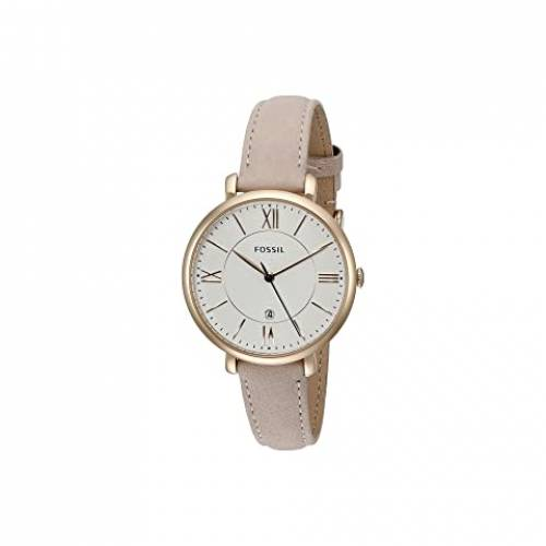 FOSSIL レザー ウォッチ 時計 ローズ 【 WATCH ROSE FOSSIL JACQUELINE THREEHAND LEATHER ES3988 GOLD BLUSH 】 腕時計 レディース腕時計