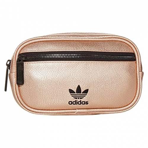 アディダスオリジナルス ADIDAS ORIGINALS レザー バッグ ユニセックス 【 Originals Pu Leather Waist Pack 】 Rose Gold/black