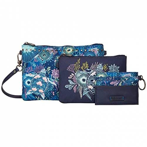 SAKROOTS バッグ レディース 【 Artist Circle Adventure Triple Pouch 】 Royal Blue Seascape