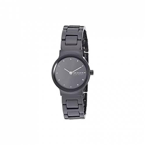 SKAGEN ウォッチ 時計 黒 ブラック ステンレス 銀色 スチール 【 WATCH BLACK SKAGEN FREJA TWOHAND SKW2830 STAINLESS STEEL 】 腕時計 レディース腕時計