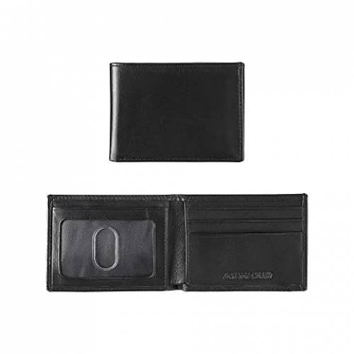 JOHNSTON & MURPHY スリム ウォレット 財布 バッグ メンズ 【 Super Slim Wallet 】 Black Full Grain