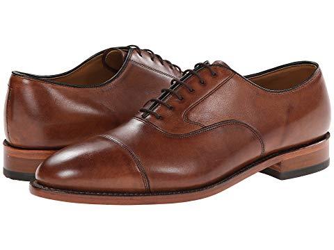 JOHNSTON & MURPHY クラシック ドレス キャップ 帽子 オックスフォード メンズ ビジネススニーカー 【 Melton Classic Dress Cap Toe Oxford 】 Tan Italian Calfskin