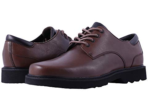 ROCKPORT メンズ ビジネススニーカー 【 Main Route Northfield Waterproof 】 Dark Brown Leather