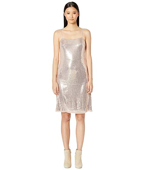 【海外限定】ストラップ ドレス ワンピース レディースファッション 【 ALL OVER SEQUIN SPAGHETTI STRAP DRESS 】【送料無料】