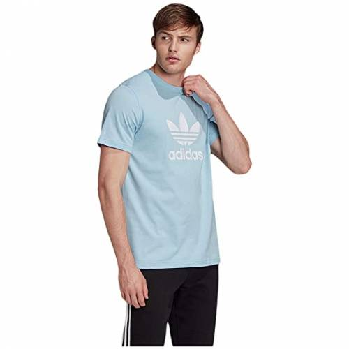 アディダスオリジナルス ADIDAS ORIGINALS トレフォイル Tシャツ メンズファッション トップス カットソー メンズ 【 Trefoil Tee 】 Clear Sky