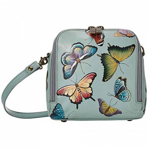 アヌシュカハンドバッグ ANUSCHKA HANDBAGS アラウンド バッグ レディース 【 Zip Around Travel Organizer - 668 】 Butterfly Heaven