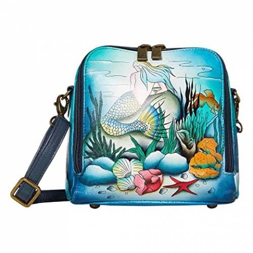 アヌシュカハンドバッグ ANUSCHKA HANDBAGS アラウンド バッグ レディース 【 Zip Around Travel Organizer - 668 】 Little Mermaid