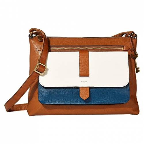 FOSSIL バッグ レディース 【 Kinley Large Crossbody 】 Blue/white Color-block