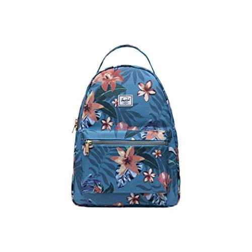 HERSCHEL SUPPLY CO. バッグ ユニセックス 【 Nova Mid-volume 】 Summer Floral Heaven Blue