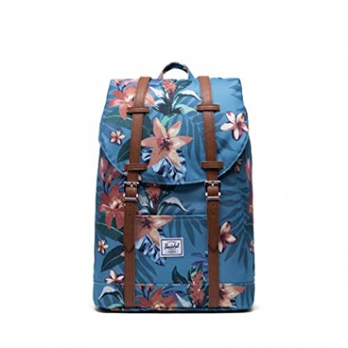 HERSCHEL SUPPLY CO. バッグ ユニセックス 【 Retreat Mid-volume 】 Summer Floral Heaven Blue