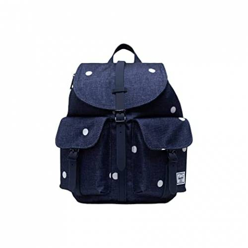 HERSCHEL SUPPLY CO. バッグ ユニセックス 【 Dawson X-small 】 Polka Dot Crosshatch Peacoat