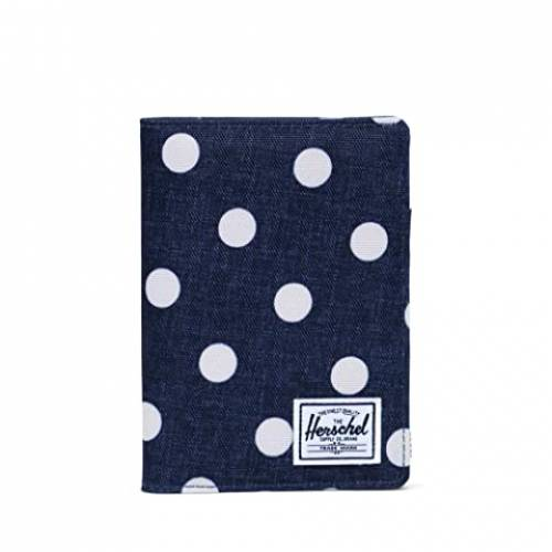 HERSCHEL SUPPLY CO. バッグ ユニセックス 【 Raynor Passport Holder Rfid 】 Polka Dot Crosshatch Peacoat Small