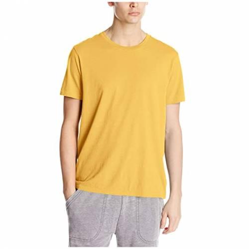 オルタナティブ ALTERNATIVE 黄色 イエロー 【 YELLOW ALTERNATIVE ORGANIC CREW OCHRE 】 メンズファッション トップス