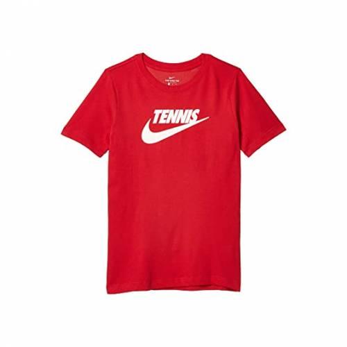 ナイキ キッズ NIKE KIDS カウント テニス グラフィック Tシャツ キッズ ベビー マタニティ トップス ジュニア 【 Court Tennis Graphic T-shirt (big Kids) 】 Gym Red/black