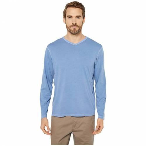 MOD-O-DOC スリーブ ブイネック 青 ブルー 【 SLEEVE BLUE MODODOC LONG BEACH VNECK FOG 】 メンズファッション トップス Tシャツ カットソー