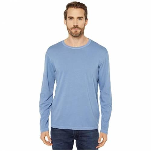 MOD-O-DOC スリーブ 青 ブルー 【 SLEEVE BLUE MODODOC EL SEGUNDO LONG CREW FOG 】 メンズファッション トップス Tシャツ カットソー