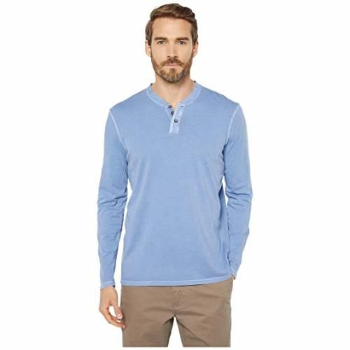 MOD-O-DOC スリーブ ヘンリー メンズファッション トップス Tシャツ カットソー メンズ 【 Palos Verdes Long Sleeve Henley 】 Blue Fog