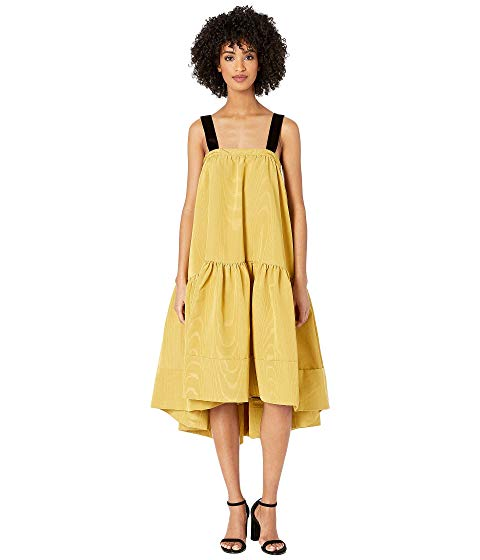 【海外限定】ドレス ワンピース レディースファッション 【 ADAM LIPPES MOIRE TAFFETA DRESS W VELVET STRAPS 】【送料無料】