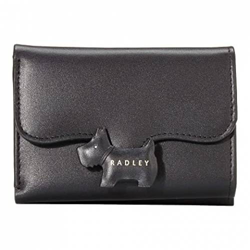 RADLEY LONDON 黒 ブラック 【 BLACK RADLEY LONDON CREST SMALL TRIFOLD PURSE 】 バッグ