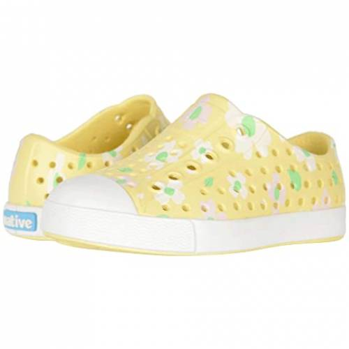 NATIVE KIDS SHOES キッズ ベビー マタニティ ジュニア 【 Jefferson Print (toddler/little Kid) 】 Gone Bananas Yellow/shell White/daisy