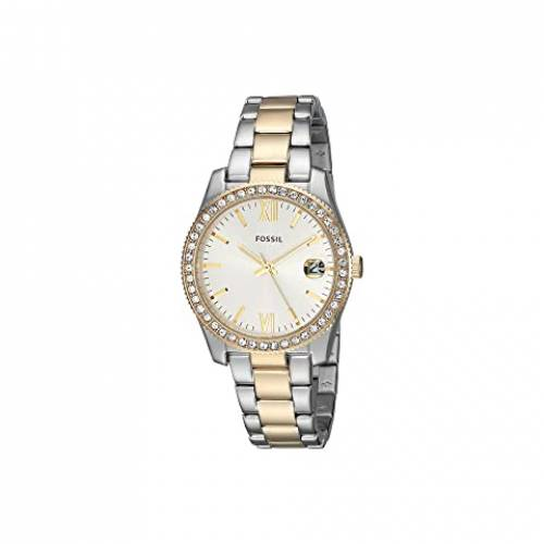 FOSSIL ウォッチ 時計 ステンレス 銀色 スチール 【 WATCH FOSSIL SCARLETTE MINI THREEHAND ES4319 TWOTONE STAINLESS STEEL 】 腕時計 レディース腕時計