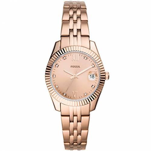 FOSSIL ウォッチ 時計 ローズ 金色 ゴールド 【 WATCH ROSE FOSSIL SCARLETTE MINI THREEHAND ES4898 GOLD 】 腕時計 レディース腕時計