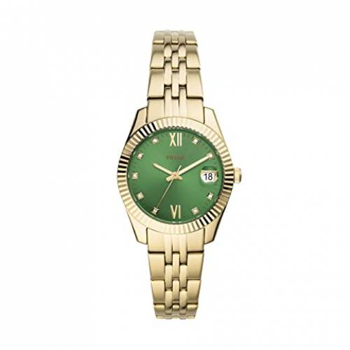 FOSSIL ウォッチ 時計 金色 ゴールド 緑 グリーン 【 WATCH GREEN FOSSIL SCARLETTE MINI THREEHAND ES4903 GOLD 】 腕時計 レディース腕時計