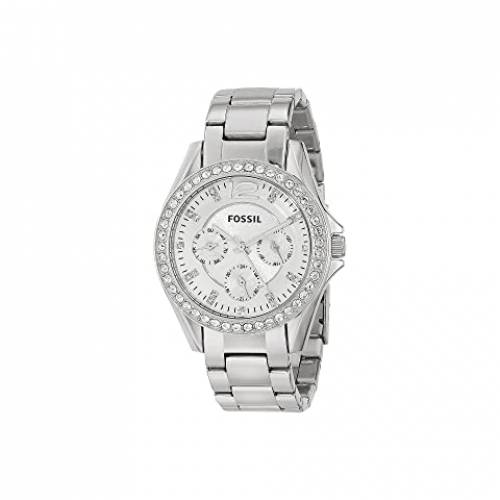 FOSSIL ウォッチ 時計 銀色 シルバー ステンレス スチール 【 WATCH SILVER FOSSIL RILEY MULTIFUNCTION ES3202 STAINLESS STEEL 】 腕時計 レディース腕時計