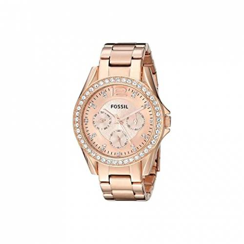 FOSSIL ウォッチ 時計 ローズ ステンレス 銀色 スチール 【 WATCH ROSE FOSSIL RILEY MULTIFUNCTION ES2811 GOLD STAINLESS STEEL 】 腕時計 レディース腕時計