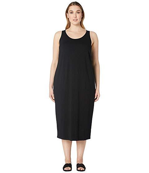 アイリーンフィッシャー EILEEN FISHER ジャージ ドレス レディースファッション ワンピース レディース 【 Plus Size Viscose Jersey Scoop Neck Dress 】 Black