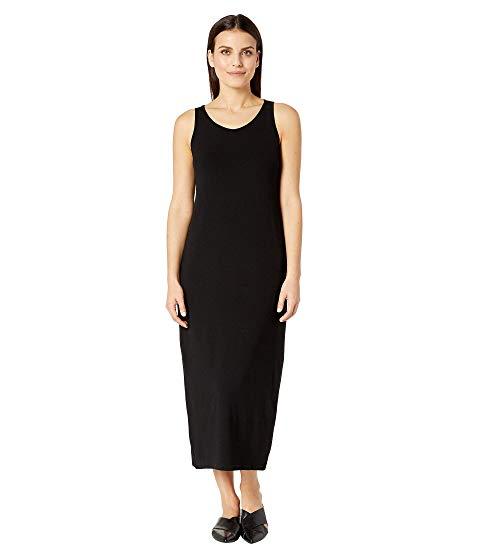 アイリーンフィッシャー EILEEN FISHER ジャージ ドレス レディースファッション ワンピース レディース 【 Petite Viscose Jersey Scoop Neck Dress 】 Black