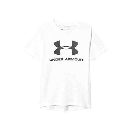 アンダーアーマー キッズ UNDER ARMOUR KIDS ロゴ スリーブ キッズ ベビー マタニティ トップス Tシャツ ジュニア 【 Sportstyle Logo Short Sleeve (big Kids) 】 White/black