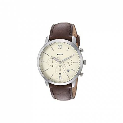 FOSSIL ウォッチ 時計 銀色 シルバー 茶 ブラウン レザー 【 WATCH SILVER BROWN FOSSIL NEUTRA CHRONOGRAPH FS5380 LEATHER 】 腕時計 メンズ腕時計