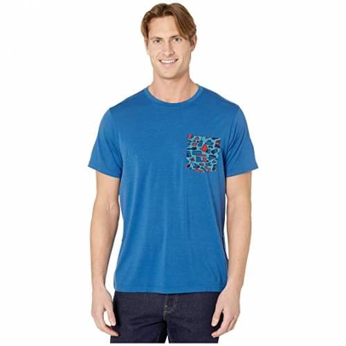 SMARTWOOL Tシャツ 青 ブルー 【 BLUE SMARTWOOL MERINO 150 POCKET TEE LIGHT ALPINE 】 メンズファッション トップス Tシャツ カットソー