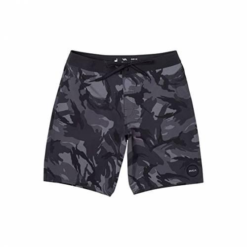 RVCA ルーカ 黒 ブラック 【 RVCA BLACK VA TRUNK PRINT CAMO 】 メンズファッション 水着