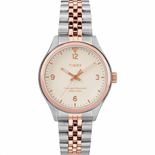 TIMEX タイメックス 白 ホワイト 【 WHITE TIMEX 34 MM WATERBURY TWOTONE 1 】 腕時計 レディース腕時計