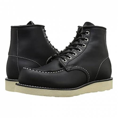 "RED WING HERITAGE 6"" メンズ ブーツ 【 6"" Moc Toe 】 Black Harness"