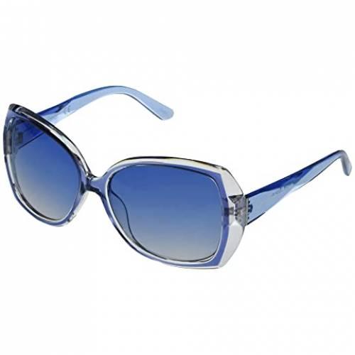JESSICA SIMPSON 青 ブルー 【 BLUE JESSICA SIMPSON OVERSIZED CUT CRYSTAL PLASTIC 】 バッグ  眼鏡