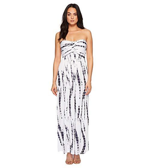 AMERICAN ROSE ドレス レディースファッション ワンピース レディース 【 Liliana Maxi Dress 】 White/navy Tie-dye
