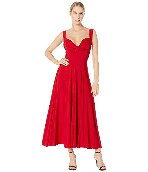 【海外限定】ノンスリーブ ドレス レディースファッション ワンピース 【 SLEEVELESS FLARED TWIST MIDCALF DRESS 】