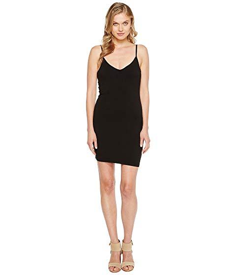 LAMADE Vネック タンクトップ ドレス 黒 ブラック 【 BLACK LAMADE VNECK TANK DRESS 】 レディースファッション ワンピース
