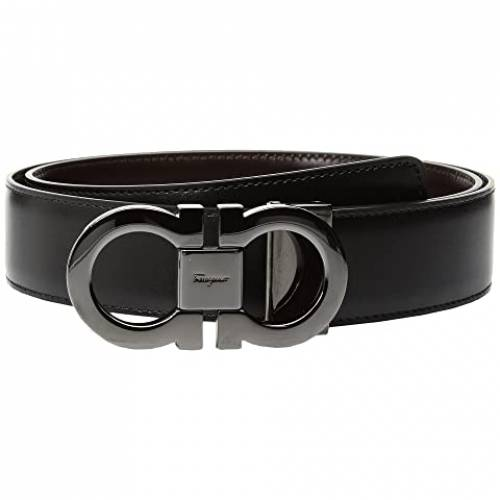 SALVATORE FERRAGAMO リバーシブル ベルト 黒 ブラック 【 BLACK SALVATORE FERRAGAMO DOUBLE GANCINI ADJUSTABLE AND REVERSIBLE BELT 679535 AUBURN 】 バッグ ベルト サスペンダー
